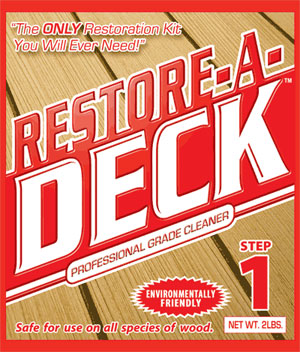 Wood preparation and maintenance products for Revive deck cleaner