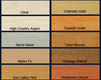 DEFY Water Repellent Wood Stain Colors
