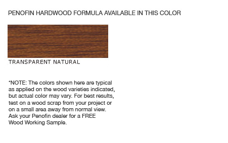 Penofin Hardwood Formula Colors