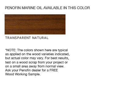 Penofin Marine Oil Finish Colors