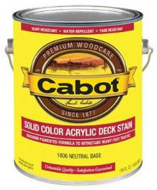 Cabot 1600 Series Solid Color Oil Decking Stain