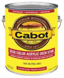 Cabot 1800 Series Solid Color 100% Acrylic Decking Stain