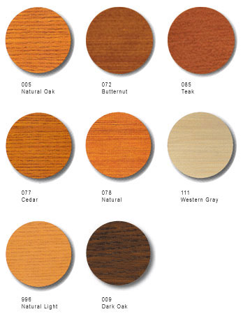 Cetol Log & Siding Color Options
